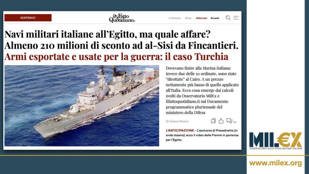 Navi militari all'Egitto, ma quale affare? Maxisconto di Fincantieri ad al-Sisi che le ha pagate almeno 210 milioni meno dello Stato italiano