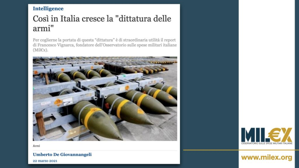 """Così in Italia cresce la """"dittatura delle armi"""""""