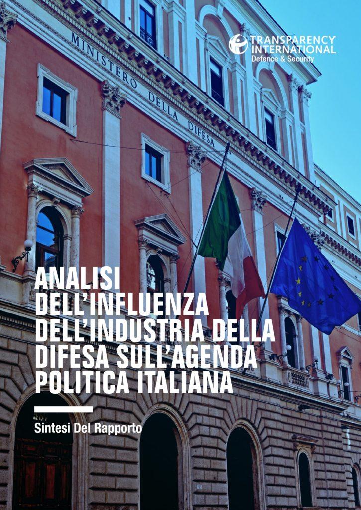 Analisi dell'influenza dell'industria della difesa sull'agenda politica italiana