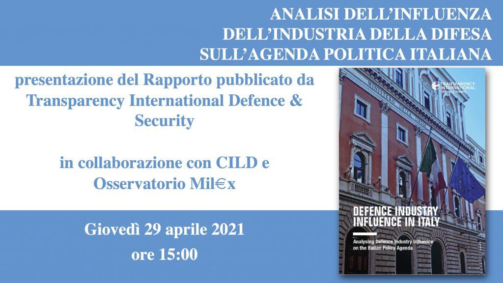 Presentazione del Report sull'influenza dell'industria della Difesa